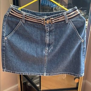 DKNY Jeans belted mini skirt size 4